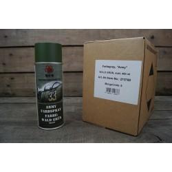 6x Farbspray matt MFH Militärlack WALD GRÜN bronzegrün Militärfarbe Sprühdose Farbe RAL 6031
