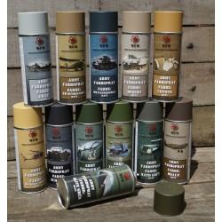 ARMY Farbspray SCHWARZ MATT Militärlack Militärfarbe Sprühdose Spraylack Farbe 400ml