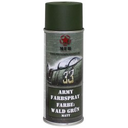 ARMY Farbspray WALD GRÜN MATT Militärlack Militärfarbe Sprühdose Spraylack Farbe 400ml
