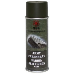 ARMY Farbspray OLIV GRÜN MATT Militärlack Militärfarbe Sprühdose Spraylack Farbe 400ml