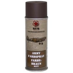 ARMY Farbspray BRAUN MATT Militärlack Militärfarbe Sprühdose Spraylack Farbe 400ml