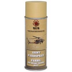 ARMY Farbspray WH KHAKI TROPEN MATT Militärlack Militärfarbe Sprühdose Spraylack Farbe 400ml